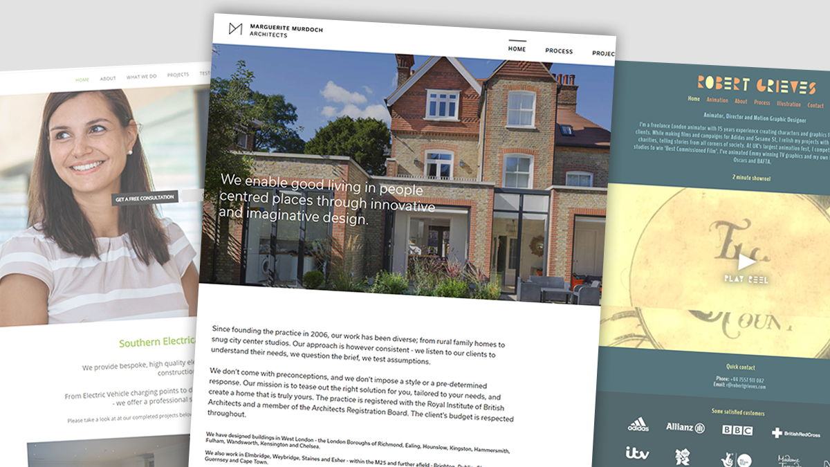 website design and developer projects in Teddington, Kingston, Richmond, Twickenham and South West London