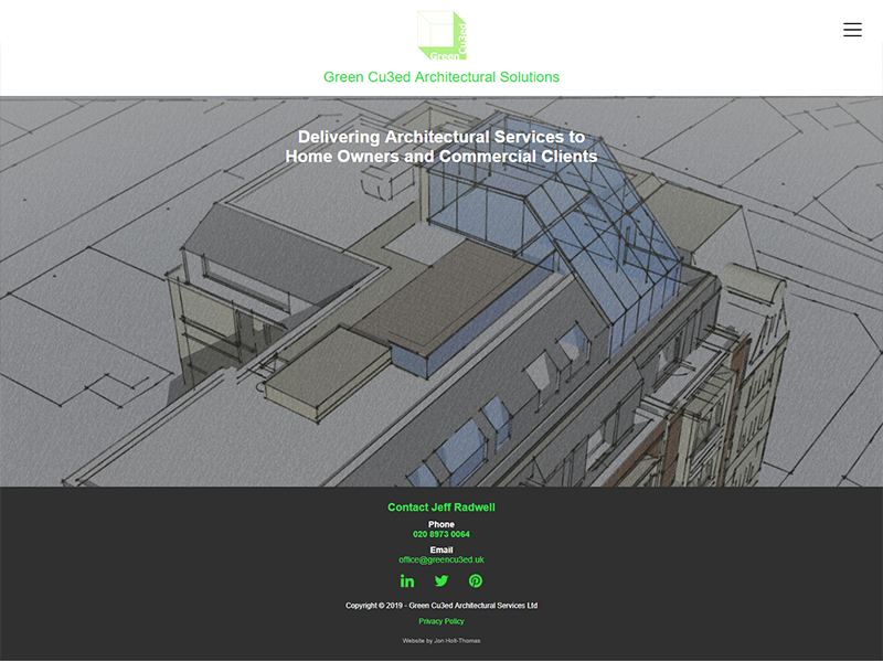 Green Cubed Architectural Solutions in Teddington - Website Design, Development and SEO